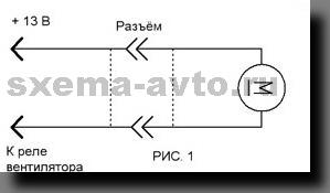 Модернизация схемы управления вентилятором машин Ваз-2110