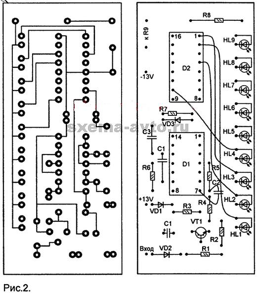 дорожек светодиоды HL1-