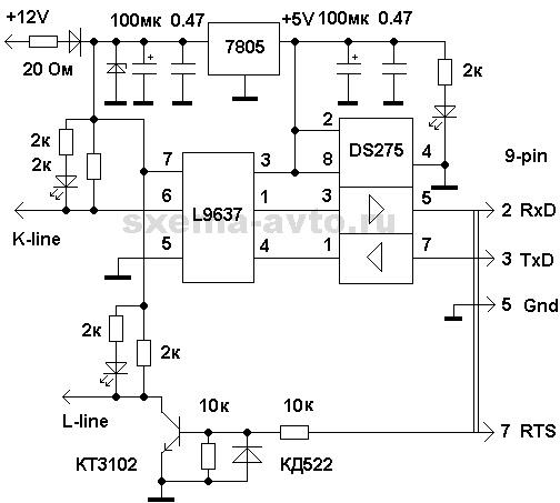 Адаптер на МАХ232 и 74HST14