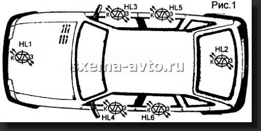 Схема Автомобильный индикатор