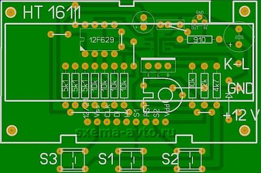Автомобильный контроллер управления охлаждением через K-Line интерфейс (ВАЗ-2108, 09, 10, 11, 12)