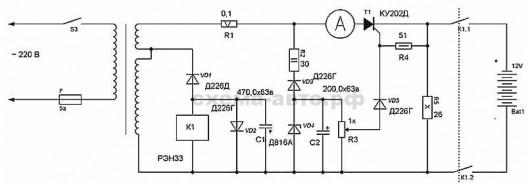 Схема подключения переменного генератора япония