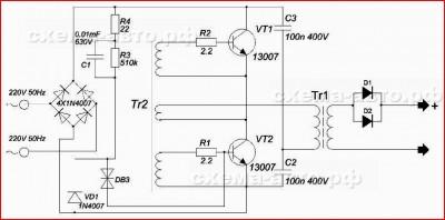 Компактное зарядное устройство, схема фото