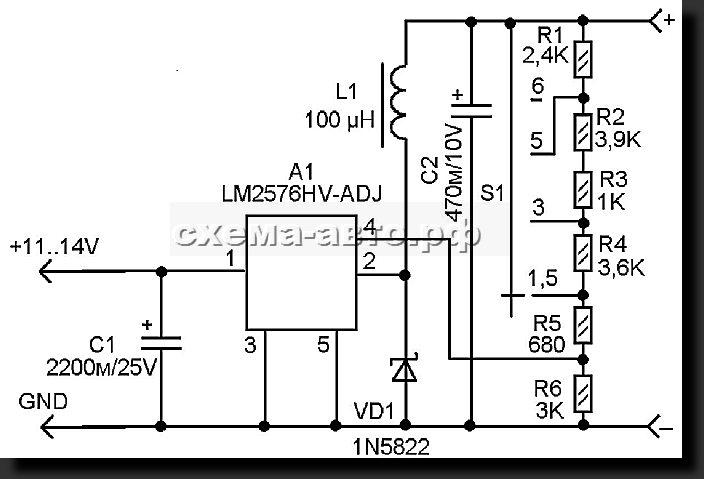 Схема адаптера прикуривателя автомобиля
