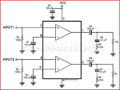 Микросхема TDA2822 в жизни автомобиля схема