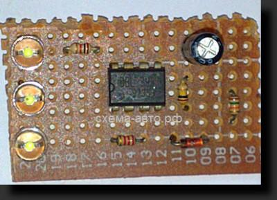 Индикатор уровня заряда батареи схема
