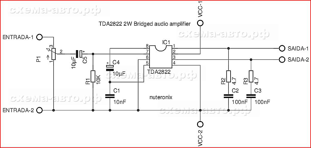 Микросхема TDA2822 в жизни