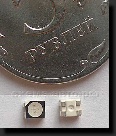 светодиод PLCC4 он же 3528 RGB LED фото