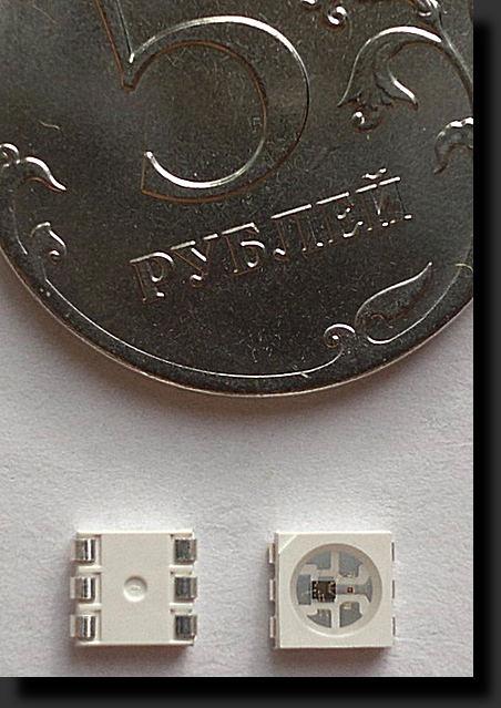 светодиод PLCC6 With WS2811 фото