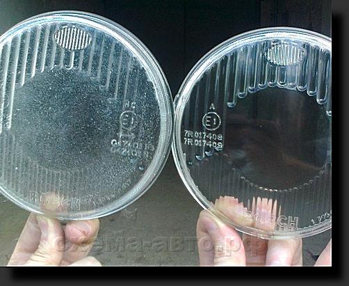 Чем отполировать стеклянные фары своими руками 77
