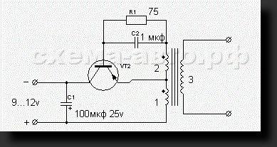 Схема ионизатор воздуха.