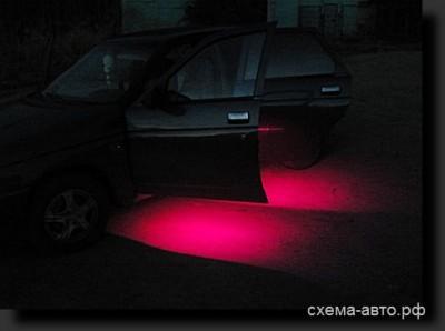 подсветка дверей на светодиодах RGB