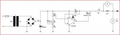 Зарядное устройство или простой стабилизатор тока схема