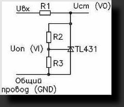 ЗУ для аккумулятора схема