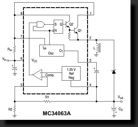 Простой калькулятор DC-DC для расчета MC34063