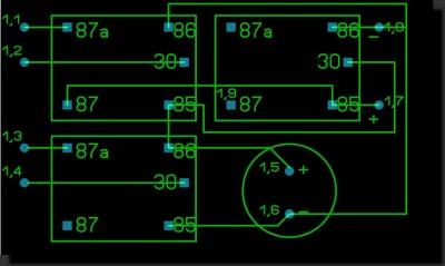 схема поворотников в стоп сигналах.