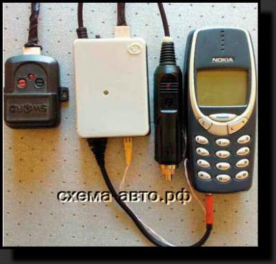 Сигнализация из сотового телефона для авто фото