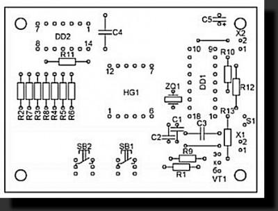 Генератор для проверки тахометров, схема.