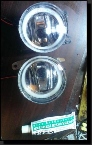LED глазки в ПТФ своими руками