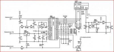 Цифровой указатель остатка уровня топлива на LCD дисплее