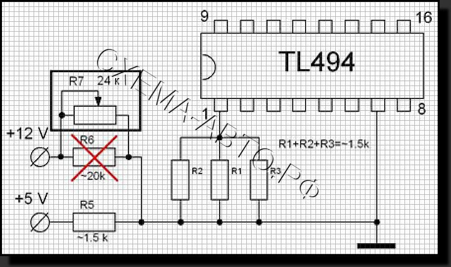 аккумулятора из ATХ схема