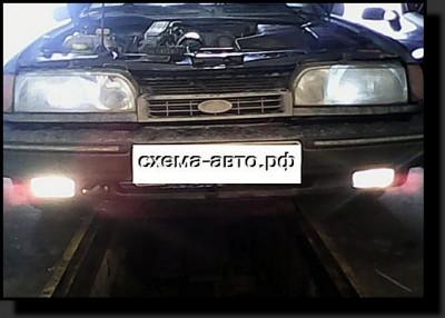 Установка противотуманных фар на Ford Scorpio