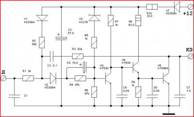 Реле включения вентилятора системы охлаждения двигателя.