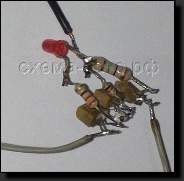 Сенсорный выключатель, схема