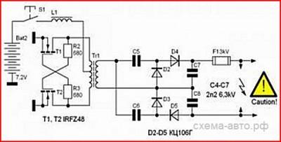 Мультивибратор на полевых транзисторах схема фото 177