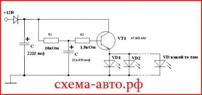 Плавное вкл/выкл подсветки панели приборов