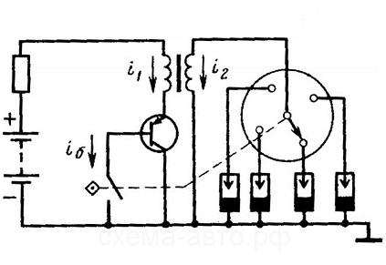 в контактно-транзисторную