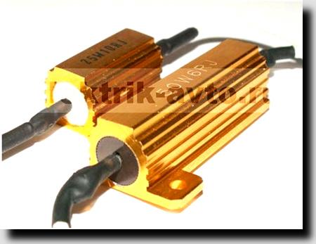 Установка резисторов-обманок для светодиодных ламп