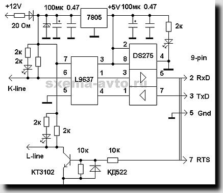 Адаптеры K-L-LINE несколько схем