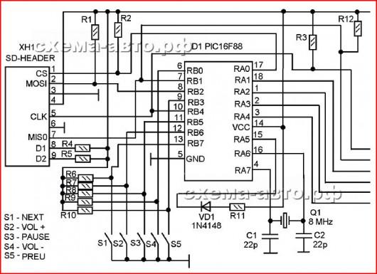 схема мп3 плеера