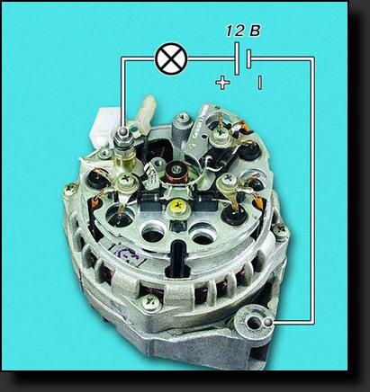 Проверка работы выпрямительного блока генератора Ваз-2110.