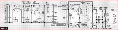 USB-зарядка на микросхеме МС33063А схема