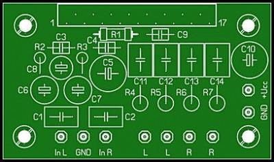 Усилитель на базе микросхемы TA8205, TA8210, TA8215, TA8221