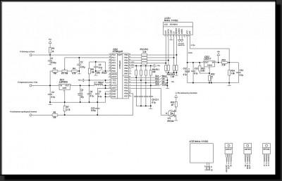 Цифровой измеритель остатка топлива и напряжения АКБ для автомобиля (ATMega8). схема
