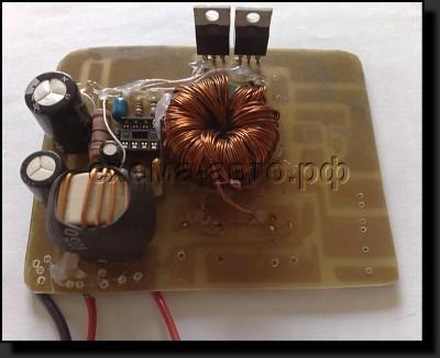 Небольшой автомобильный преобразователь для TDA7293